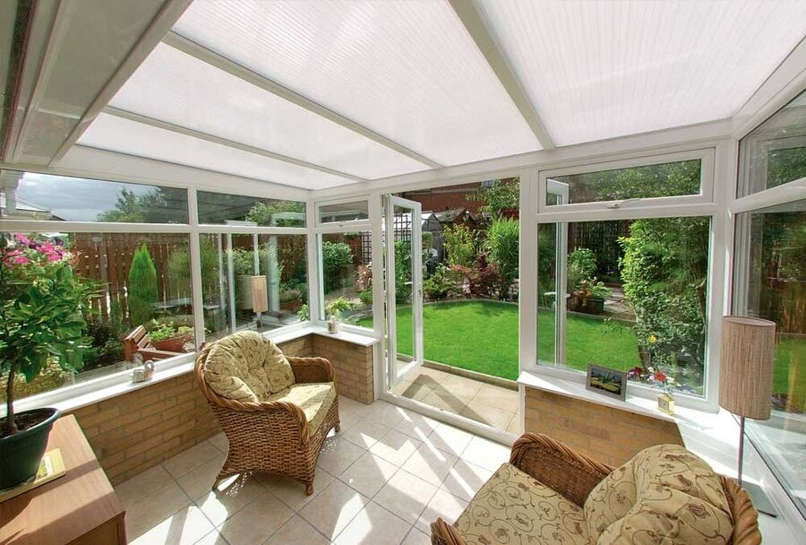 polycarbonate replacement conservatory roof cost