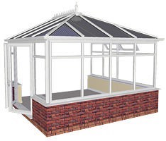 Cost of a brick conservatory brick conservatory prices for Boundary wall cost calculator