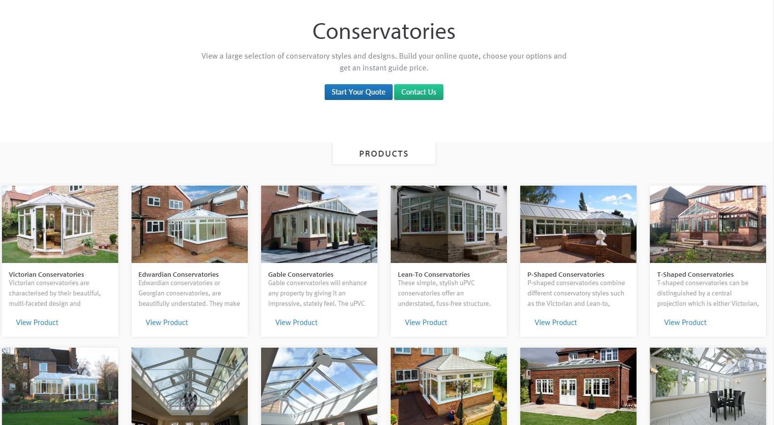 conservatory prices and styles