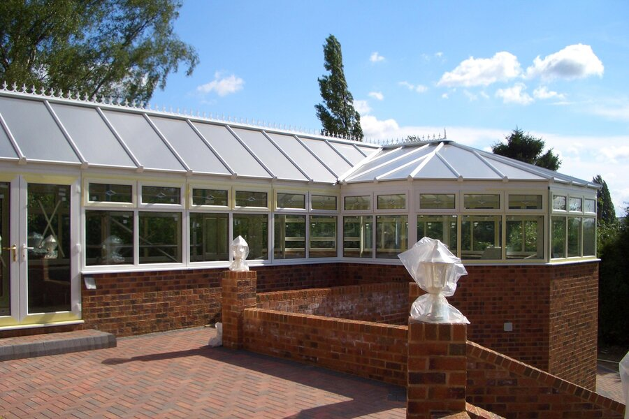 replacement conservatory roof cost for P shaped conservatory