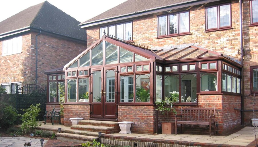 t-shaped conservatory - replacement conservatory roof cost